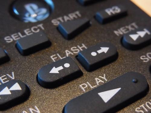 フラッシュボタン